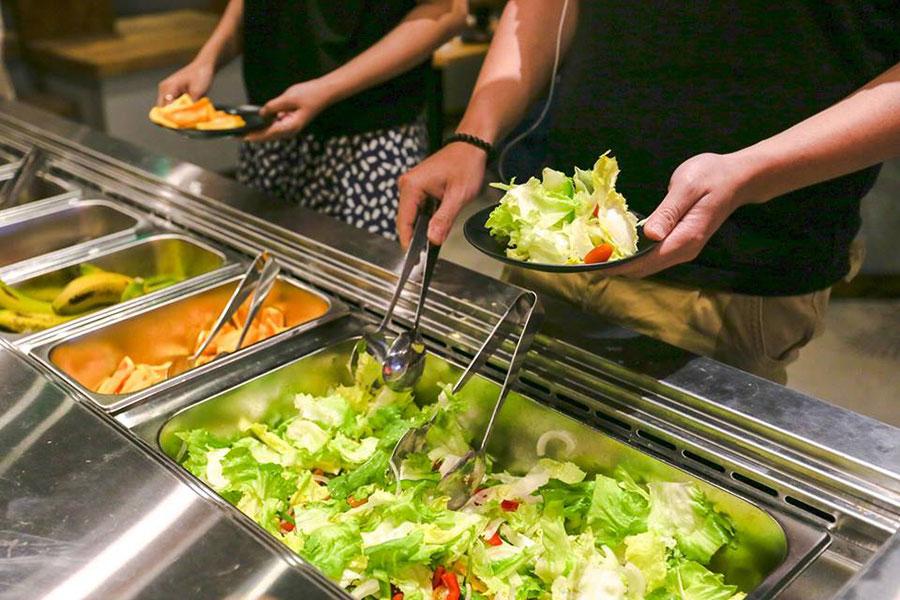 buffet rau tại Đà Lạt