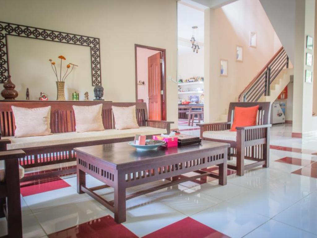 Phòng khách tạo cảm giác gần gũi, thoải mái cho du khách