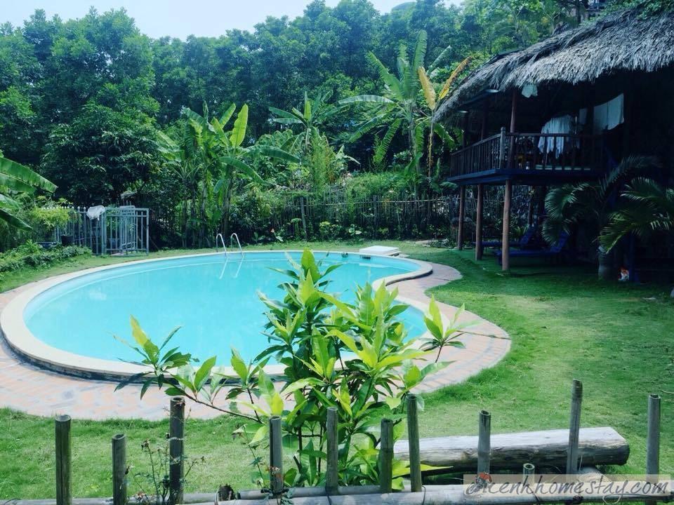 Bể bơi trong homestay