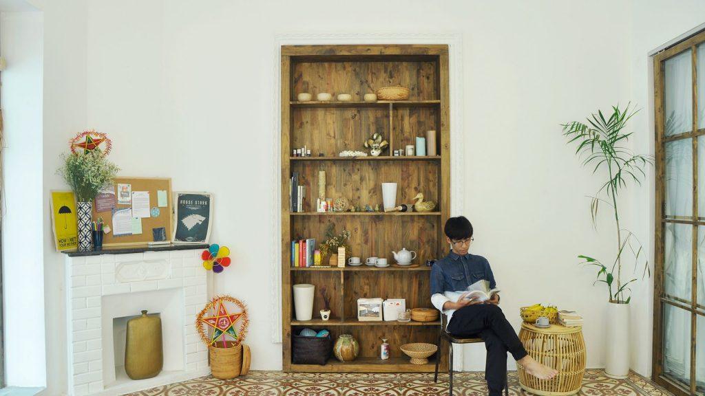 một góc đọc sách khá yên tĩnh