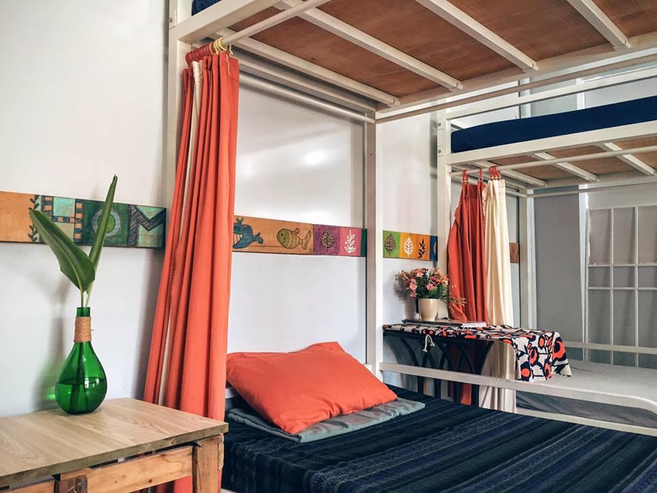 Không gian phòng dorm ở homestay