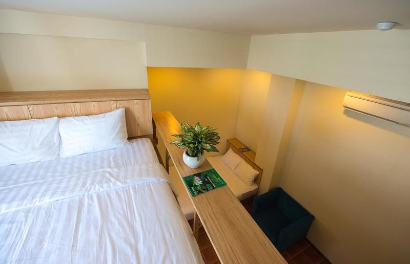 Phòng nghỉ được trang trí đơn giản mà đẹp mắt
