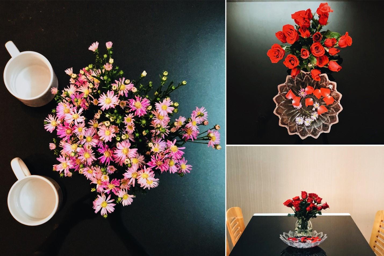 Hoa tươi được thay mỗi ngày