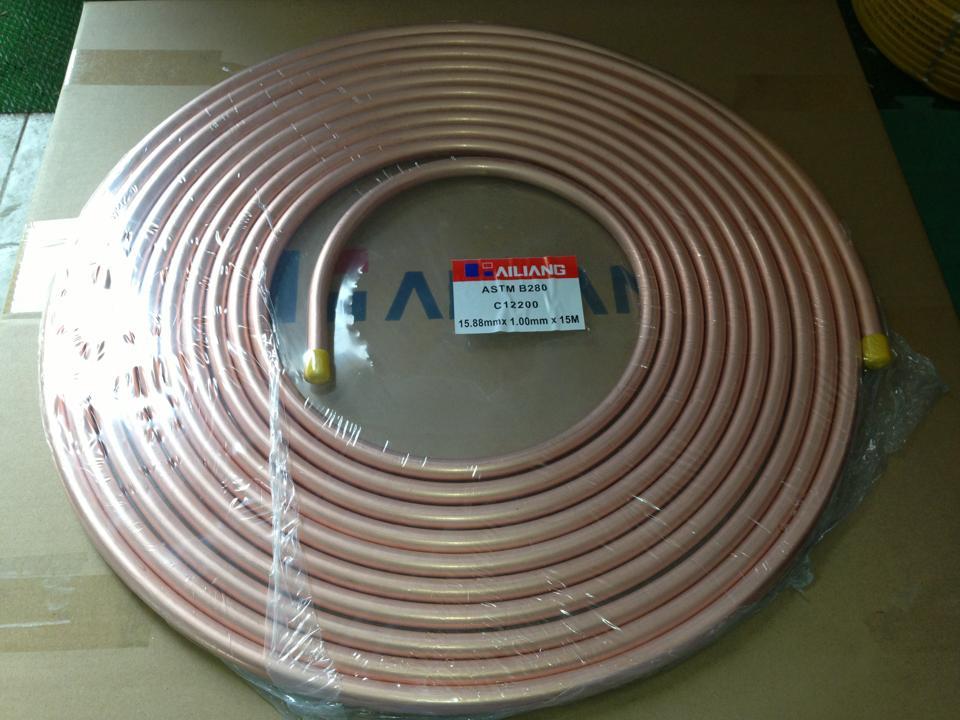Các loại ống đồng phổ biến hiện nay